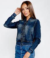 Джинсовая короткая куртка S M L XL, фото 1