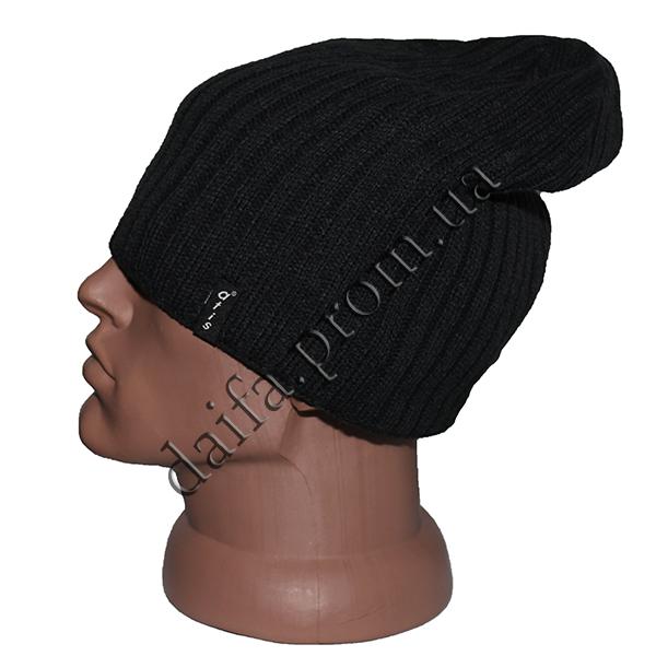 купить мужская вязаная шапка на флисе W25 оптом в одессе в одессе
