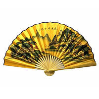 Настенный веер китайский шелковый