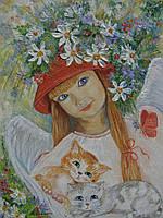 """Картина """"Ангелочек в красной шапочке"""", фото 1"""