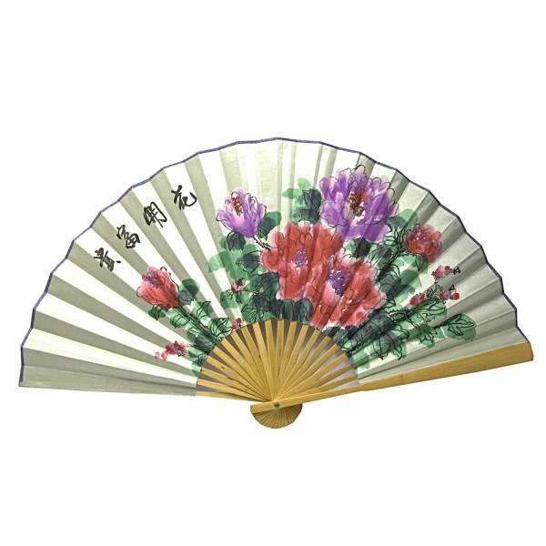 Настенный веер китайский Цветы