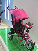 Детский Велосипед 3-х колесный TR17009, надувные колеса,складной козырёк