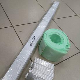 Жалюзи вертикальные, ламель 89мм, салатного (зелёный) цвета, ш1,2м х в1,5м