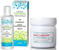Магнипсор мазь и шампунь Лостерин для лечения псориаза, Набор