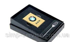 Электроимпульсная USB зажигалка с аккумулятором BMW
