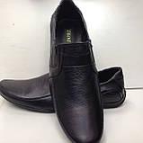 Р. 47 Мужские кожаные туфли/мокасины (большой размер), фото 7