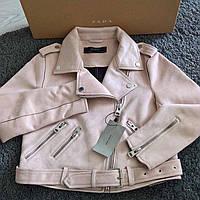 Женская куртка косуха ZARA замша