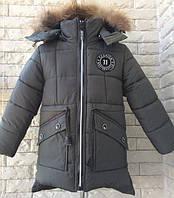 Куртка зимняя удлиненная на мальчика XL-58XL, возраст 2,3,4,5,6 лет. Хаки