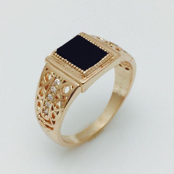 Мужской перстень Катана, размер 18,  20, 21, 22 ювелирная бижутерия