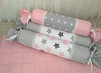 Захист в дитячу ліжечко, валик цукерочка., фото 2