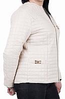 Куртка деми большой размер  50, 52, 54, 56, белый