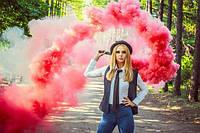 Червоний кольоровий дим (найнасиченіший(дим09), дымовая шашка, цветной дым, 35 сек., maxem