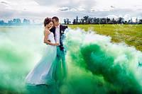 Зелений кольоровий дим (найнасиченіший(дим09), дымовая шашка, цветной дым, 35 сек., maxem