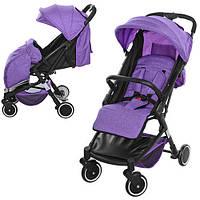 Детская прогулочная коляска M 3549-9 с чехлом на ножки, фиолетовый