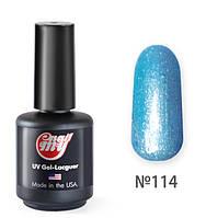 Гель-лак My Nail №114 (голубой перламутровый с салатовым отливом) 9 мл