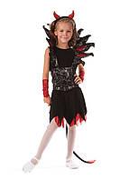 Детский костюм Чертовка роковая , рост 125-135 см