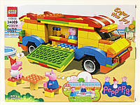 Конструктор QS08 аналог Лего Машина-кафе из серии Свинка Пеппа, 222 детали