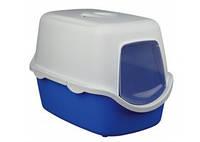 TRIXIE Vico, туалет для кошек крем-синий, 40х40х56см