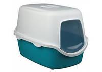 TRIXIE Vico, туалет для кошек аквамарин-крем, 40х40х56см