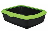 TRIXIE Classic Туалет для котов, серый-зелёный, 37х15х47см