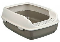TRIXIE Delio Туалет для котов, серый-крем, 35х20х48см