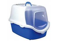 TRIXIE Vico Туалет-домик с дверцей для котов, синий-белый, 40х40х56см