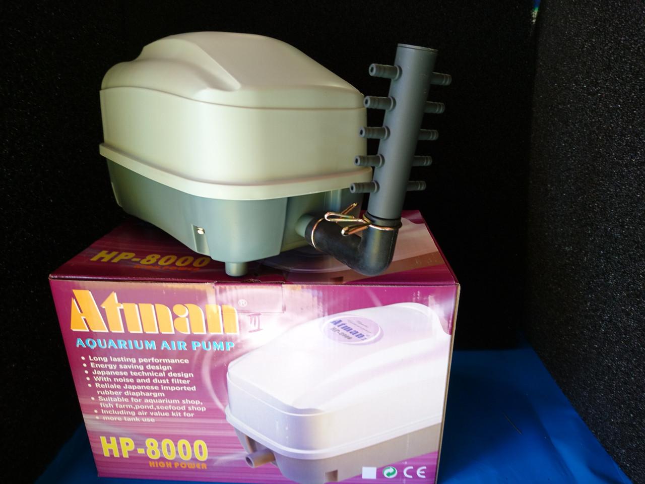 Компрессор ATMAN HP-8000, 70L/min, 47W,  0.038MPa