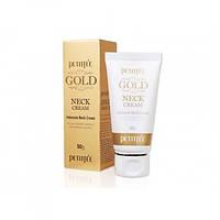 Крем для шеи и декольте с золотом,Petitfee Gold Neck Cream 50 гр
