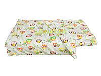 Постельный набор в детскую кроватку (3 предмета) Совушки бежевый