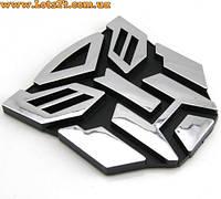 Авто значок Трансформер Автобот (3D наклейка на автомобиль, мотоцикл, машину, 95мм)