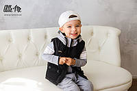 Стеганая жилетка на мальчика ( черная )