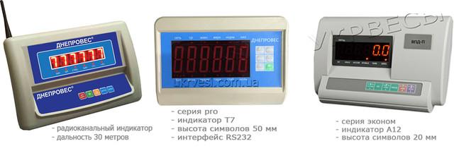 Индикаторы на весы платформенные днепровес