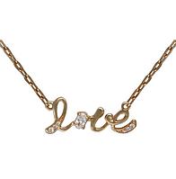 Колье золотое  Лове (Love ) вес 6.2 грамм