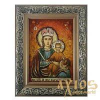 Янтарная икона Пресвятая Богородица Прежде Рождества 20x30 см