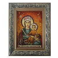 Янтарная икона Пресвятая Богородица Прежде Рождества 15x20 см