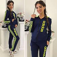 Спортивный костюм женский адидас лампасы №088