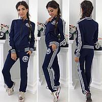Спортивный костюм женский эмблема адидас  №089