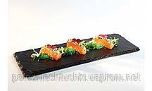 Блюдо сланцевое прямоугольное 32х12 см. черное APS
