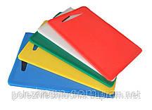 Доска разделочная пластиковая 38х26х1 см. прямоугольная, зеленая Durplastics