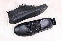 Мужские кожаные спортивные туфли кеды
