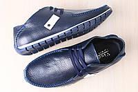 Мужские кожаные спортивные туфли мокасины