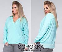 Льняная блуза больших размеров