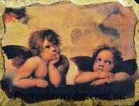 Картинка на дереве «Ангелы Рафаэля»