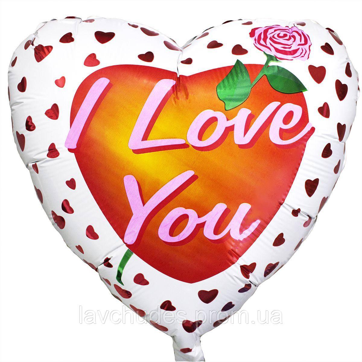 Фольгированный шар в виде сердца Я Люблю Тебя