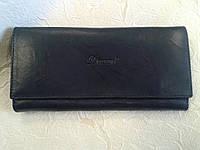 Женский кошелек кожаный темно синий(Турция)