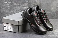 Мужские кроссовки ECCO biom, черные с красными вставками