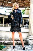 Женское мега крутое кожаное пальто,3 цвета