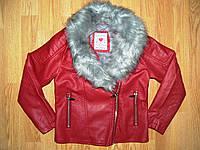 Куртка кожзам. на девочку оптом, Glo-story, 92/98 рр.