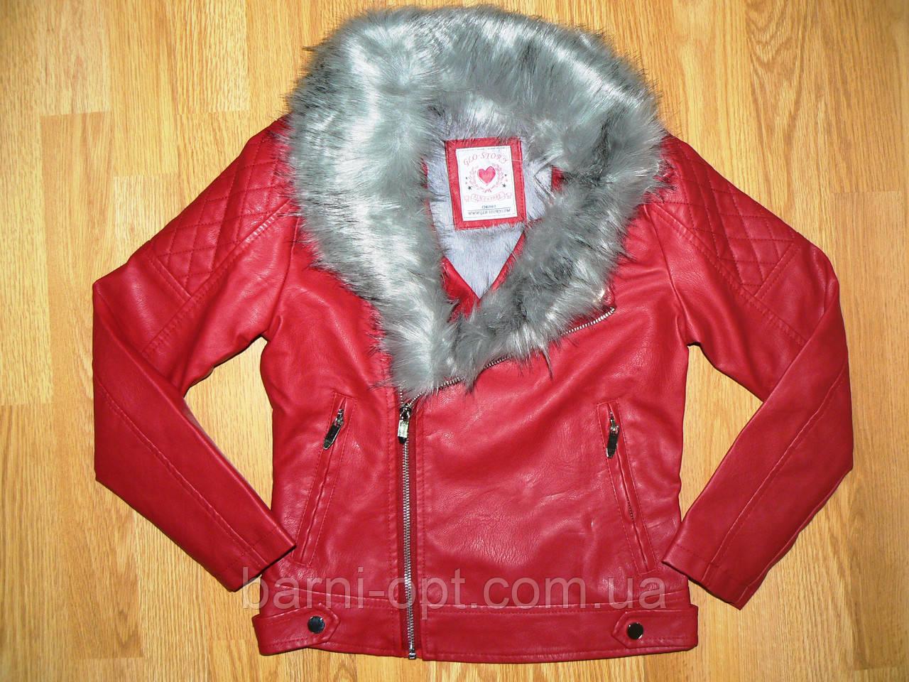 Куртка кожзам. на девочку оптом, Glo-story, 134-170 рр
