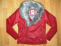Куртка кожзам. на девочку оптом, Glo-story, 134-170 рр, фото 1